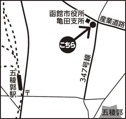 函館会場地図